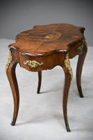 French Inlaid Walnut Centre Table (6 of 12)