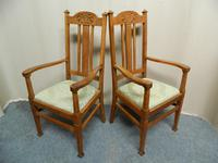 Set of 6 Oak Arts & Crafts Dining Chairs (2 of 7)