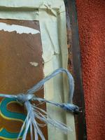"""Large Antique Needlework Sampler 1837 Elizabeth Starkey. in Frame 20"""" x 20"""" (11 of 12)"""