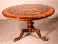 Mahogany & Marquetry Table 19th Century - England (2 of 11)