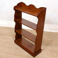 Oak Open Bookcase Waterfall Solid Carved (2 of 8)