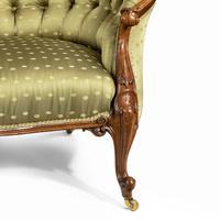 Elaborate Victorian Shaped Walnut Sofa (9 of 12)