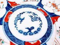 Chinese Asian Imari Plate 19th Century 1850-1899 Imari Rust Red Cobalt Blue Porcelain (4 of 6)