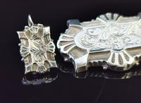 Victorian Silver Demi Parure, Earrings & Brooch (2 of 14)