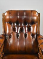 Pair of Victorian Hand Dyed Leather Library Chairs (7 of 13)