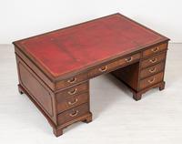 Mahogany Partners Desk with Georgian Influences (6 of 10)