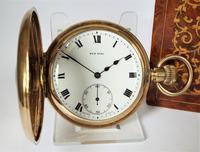 1930s Sun Dial Half Hunter Pocket Watch by Cyma (2 of 6)