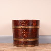 Pair Of Large Oval Oak Brass Bound Log Buckets (6 of 21)