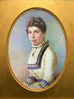 Fine Quality 19th Century Antique English Porcelain Plaque Portrait Painting c.1870 (3 of 11)