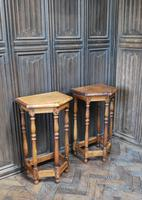 Pair of Turned Oak Bedside Tables (4 of 5)