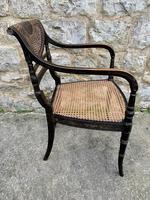 Single English Regency Painted Armchair (2 of 6)