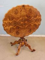 Antique Burr Walnut Shaped Occasional Table (2 of 9)