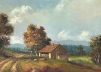 Large Fabulous Early 1900s British Farming Impressionist Landscape Oil Painting (9 of 13)