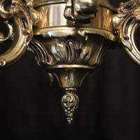 Italian Silver Gilded Triple Light Chandelier (10 of 10)