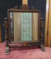 Charming Adam Style Oak Swing Toilet or Dressing Table Mirror