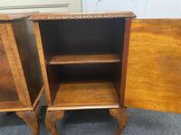 Pair of Burr Walnut Queen Anne Bedside Cupboards (7 of 15)