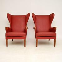 Pair of Vintage Parker Knoll Wing Back Armchairs (5 of 12)