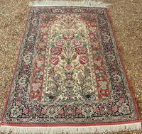 Fine Silk Carpet Rug Roses (9 of 9)