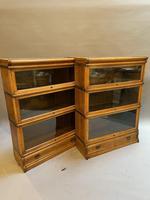Pair of Globe Wernicke Oak Bookcases (9 of 16)