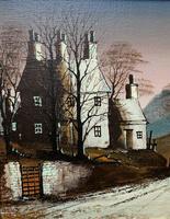 Ronald Folland Original Signed Winter Hamlet Landscape Oil Painting (5 of 12)