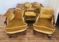 Walnut Lounge Suite of Three Pieces