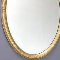 Late 19th Century Gilt Oval Bevelled Mirror with Reeded Frame c.1895 (3 of 7)