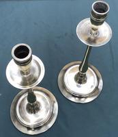Pair of Slender Tall 19th Century Brass Candlesticks (4 of 5)
