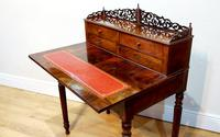 19th Century French Flame Mahogany Desk (6 of 6)