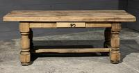 Rustic French Oak Farmhouse Kitchen Dining Table (2 of 16)