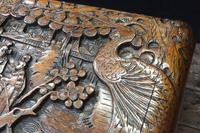 Oriental Carved Camphor Wood Chest c.1910 (5 of 12)