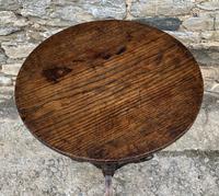 Antique Georgian Oak Candle Table (3 of 12)