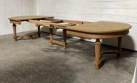 Huge Bleached Oak French Extending Dining Table (6 of 24)