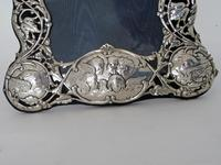 William Comyns Silver Photo Frame with Reynolds Angels (2 of 4)