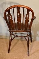 19th Century Yew Wood Windsor Armchair (5 of 6)