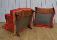 Antique French Armchair & Matching Stool (10 of 13)