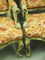 Pair of Italian Carved and Painted Armchairs (8 of 16)
