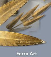 Spanish Ferro Art Gilt Palm Ceiling Light (6 of 11)