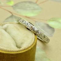Antique Art Deco platinum diamond full eternity wedding band c1920's ~ Size Q / 8 (6 of 10)