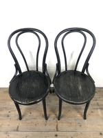 Set of Four Ebonised Bentwood Café Chairs (12 of 14)
