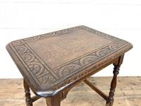 Early 20th Century Antique Oak Carved Side Table (4 of 10)