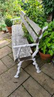 19th Century Cast-iron and Oak Garden Bench (6 of 6)