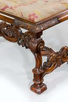 19th Century Carved Walnut Stool (4 of 4)