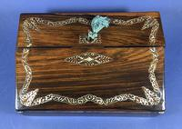 William IV Rosewood Lap Desk, Inlaid with Mother of Pearl (6 of 14)