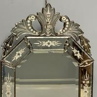 19th Century Cut & Etch Venetian Mirror (4 of 10)