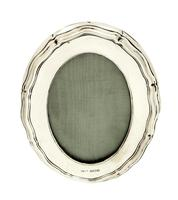 """Antique Sterling Silver 4 1/2"""" Oval Photo Frame 1915 (9 of 9)"""