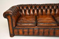 Antique Victorian Style Deep Buttoned Leather Chesterfield Sofa (4 of 8)