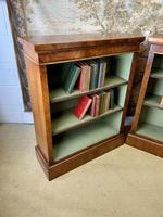 Pair of Burr Walnut Open Bookcases (6 of 8)