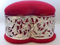 Large 1902 Hallmarked Silver Love Heart Ring Earring Jewellery Box (3 of 10)