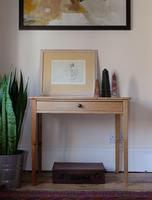 Early 1900's Pine Hall Table with Single Frieze Drawer (9 of 14)