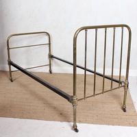 Brass Bed Frame Victorian 19th Century Single Bedframe Cast Iron (4 of 12)